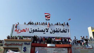 Photo of العراق..محتجو ساحة الحبوبي يُطالبون حكومة الكاظمي بالاستقالة