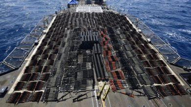 Photo of البحرية الأمريكية تعلن ضبط شحنة أسلحة كانت في طريقها للمليشيات الحوثية