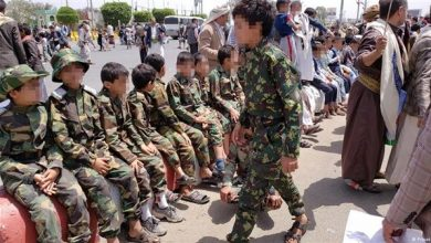 Photo of مليشيا الحوثي تجند أكثر من عشرين طفلًا من حزم العدين في إب